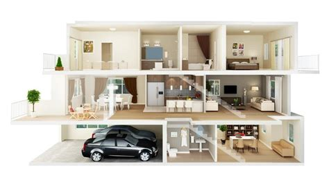 13 awesome 3d house plan ideas that give a stylish new home design 3d gold 2 5 casas estilo americano 65 projetos