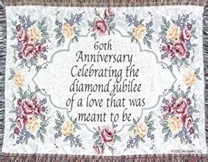 60th wedding anniversary sofa throw 60th anniversary gift made in usa home