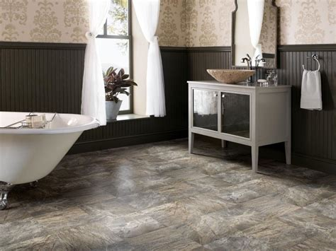 flooring ideas for bathrooms vinyl bathroom floors hgtv