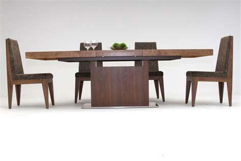 modern extendable dining table zenith modern walnut extendable dining table
