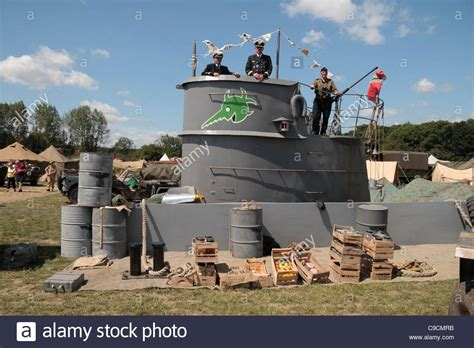 u boat on display mock up of a german u boat conning tower on display at the