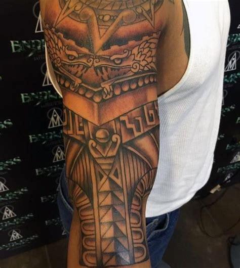 mexican tribal tattoo aztec tribal tattoos sleeve tattooic