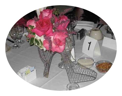 High Heel Shoe Table Decorations by High Heel Shoes