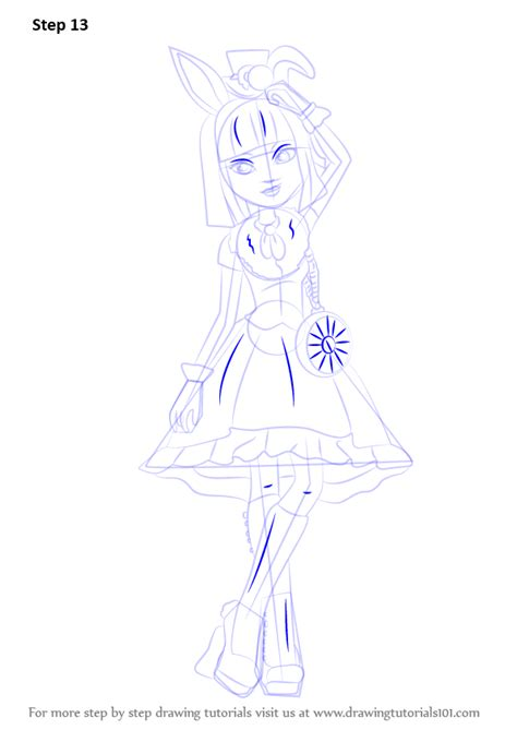 bunny blanc coloring pages learn how to draw bunny blanc from ever after high ever