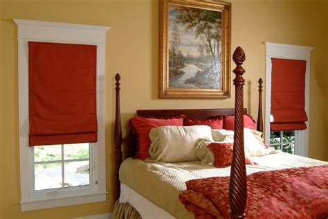 roman shades for bedroom red roman shades bedroom farmhouse bedroom other