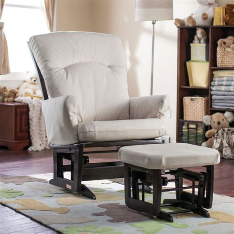 best baby glider and ottoman the best nursery glider chair dutailier modern grande