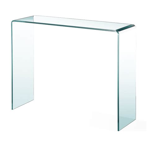 Glass Console Table Bent Glass Console Table Xcella