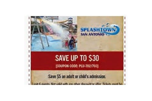 splashtown coupons july 2018