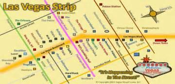 Strip Las Vegas Map by Las Vegas Strip Map Vegas Street Scene