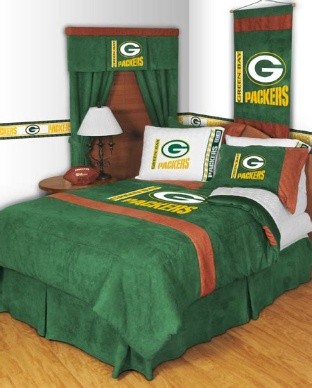 green bay packers bedroom nfl green bay packers mvp bedding set