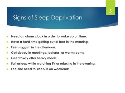 8 Signs Of Sleep Deprivation by Ppt Sleep From A To Zzzzz Sleep Hygiene For Corps