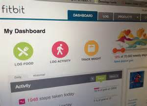 My dashboard on fitbit com it shows how many steps i ve taken daily