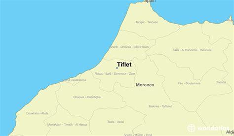 tiflet morocco tiflet rabat sale zemmour zaer map worldatlascom