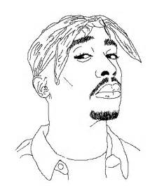 2pac Outline by Hip Hop Animated Gif