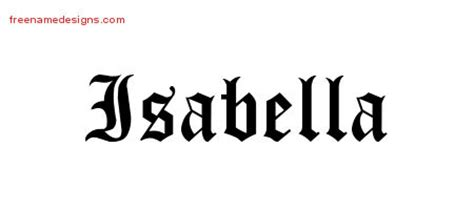 annabelle tattoo font generator blackletter name tattoo designs isabella graphic download