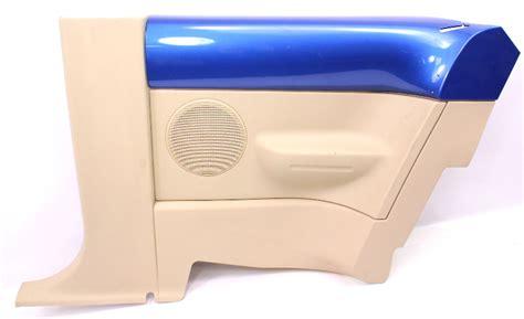 rh rear door side panel   vw beetle interior trim lwy techno blue
