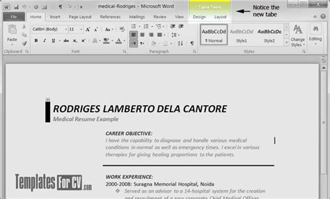 How To Edit Microsoft Word Table Templates For Cv How To Edit Word Template