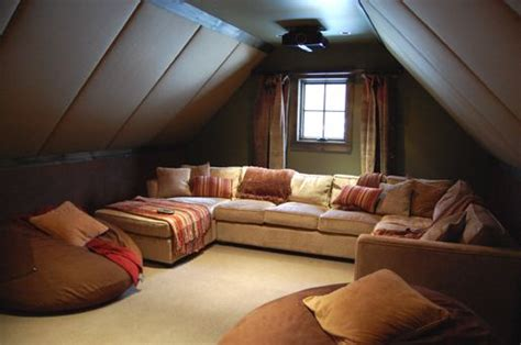 how to keep an attic bedroom cool cool homes tight attic space transformed into theater by