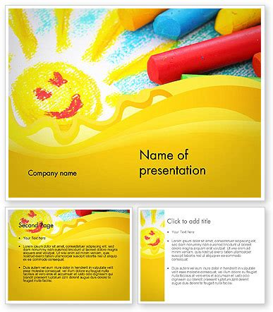 Ppt Templates For Ece Free Download | early childhood art powerpoint template poweredtemplate