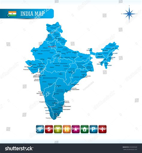 india map vector india map stock vector illustration 252920320