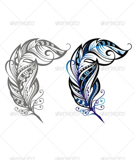 feather tattoo vector feathers tattoos vectors