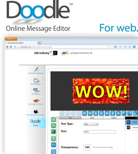 doodle editor spectacular media releases web version of doodle tm