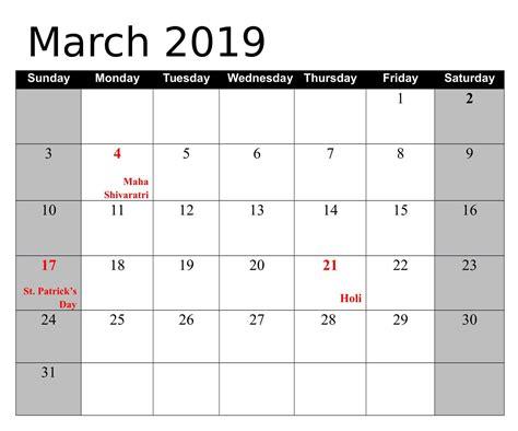 march calendar   printable calendar templates