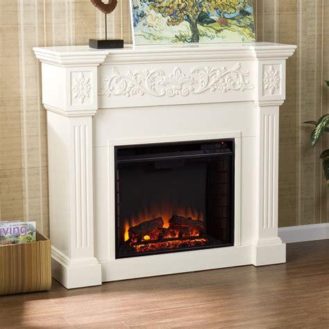Wood Fireplace Fan by Shop Boston Loft Furnishings 44 5 In W 4700 Btu Ivory Wood