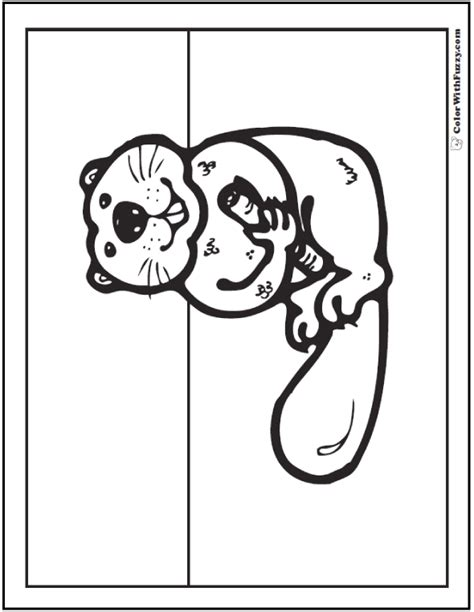 beaver color beaver coloring pages beaver dams and habitat