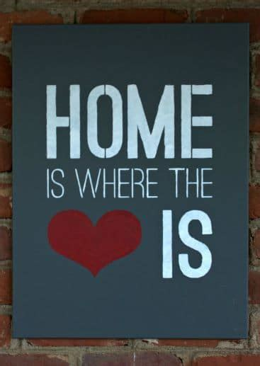 home is where the heart is home is where the heart is stenciled sign and giveaway