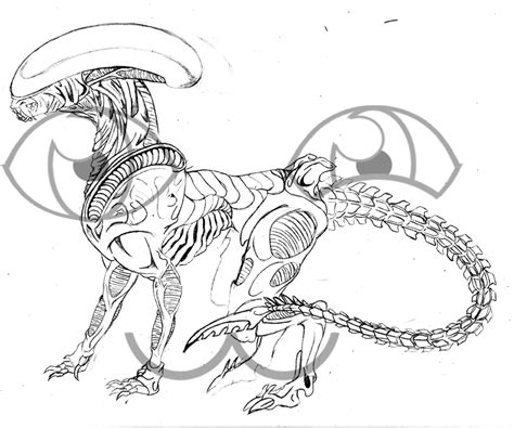 Xenomorph Coloring Page by Xenomorph Coloring Pages Pictures To Pin On