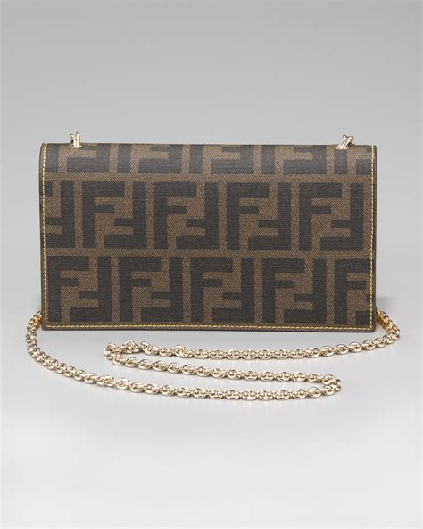 And Fendi Zucca For American Eagle by Lyst Fendi Zucca Shoulder Wallet In Brown