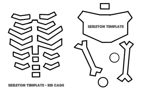 Skeleton Costume Template Printable