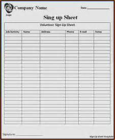 5 sample sign up sheet teknoswitch