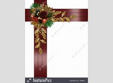 Templates: Christmas Border Elegant Red Ribbons - Stock ... Free Christmas Ornaments Clip Art
