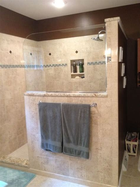 Walk In Shower Wall Options Picture Of Bathrooms With Half Walls