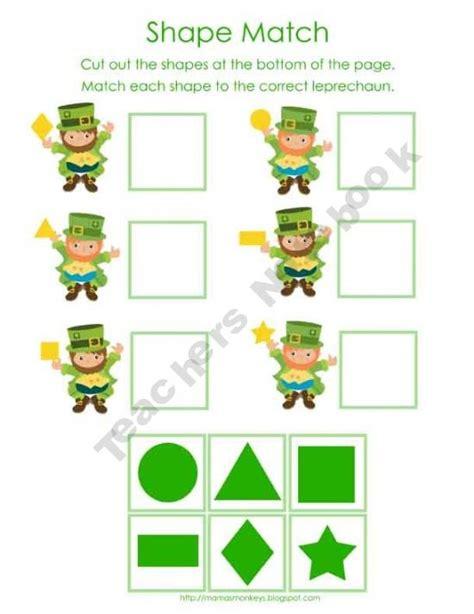 kindergarten activities st patrick s day st patrick s day math activities for preschool