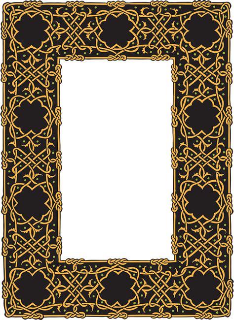 design historical frame free illustration border celtic frame design free