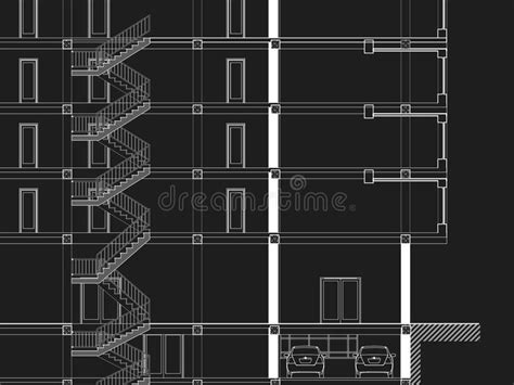 architectural drawings in autocad 171 mijsteffen cad architectural drawing blueprint stock illustration
