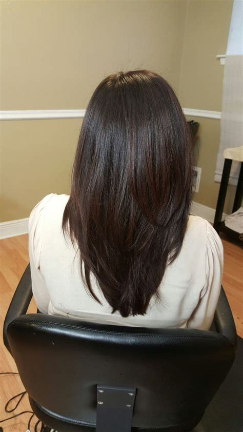 long hair short layer cut and blow out beautiful the 25 best long straight layers ideas on pinterest