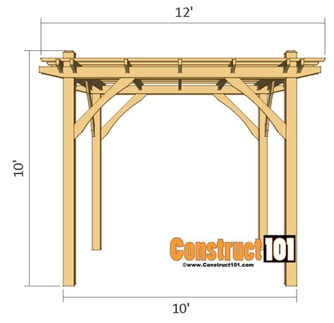 easy pergola plans easy pergola plans images