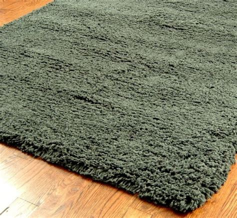 Contemporary Shag Area Rugs Shag Shag 6 Charcoal Area Rug Modern Rugs By Rugpal