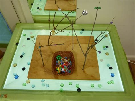 Light Table Preschool by Bead Trees On The Light Table At Pied Piper Preschool