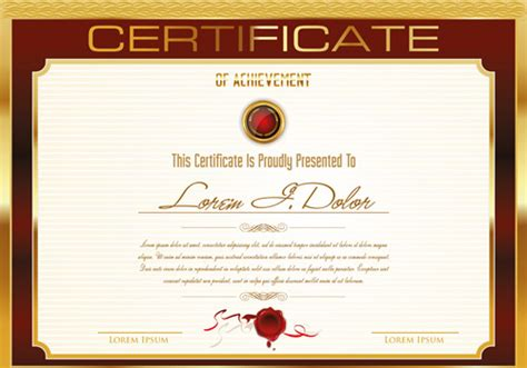 certificate layout vector certificate template adobe illustrator free vector