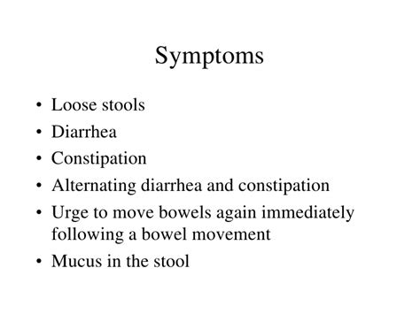 Anxiety And Mucus In Stool by Irritable Bowel Disease