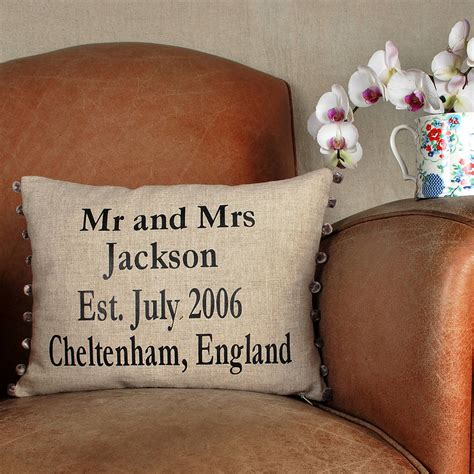 Wedding Anniversary Gifts Not On The High by Anniversary Gift And Wedding Cushion By Bags Not War