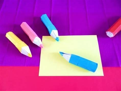 How To Make An Origami Pencil - origami pencil shaped pencil box