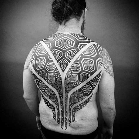 tattoo geometric back 40 geometric back tattoos for men dimensional ink ideas