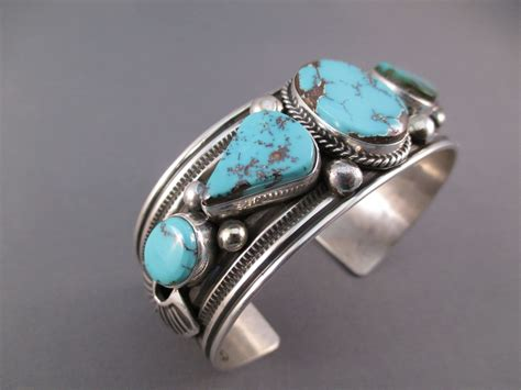 sterling silver springs turquoise bracelet by