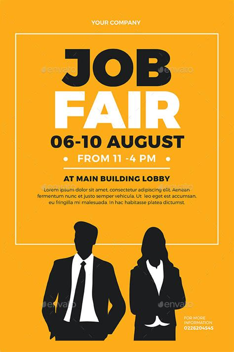 7 job fair flyer templates psd eps vector pdf